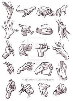 Hands reference 4 by Kibbitzer.deviantart.com on @deviantART