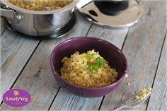 Bulgur elkészítése - Párolt bulgur recept - LovelyVeg Quinoa, Food, Bulgur, Essen, Meals, Yemek, Eten