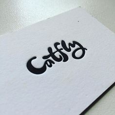 An old letterpressed card for Kate with the logo I designed. by sergeyshapiro