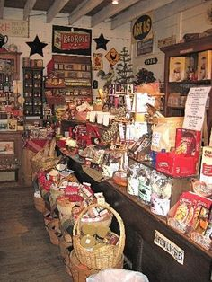 Old General Store Displays | ... display cases at the H. Souder & Sons General Store are packed full of