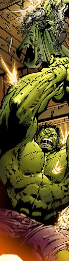 Hulk vs Dr Doom by Paul Pelletier
