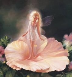 When I was little i was obsessed with Cicely Mary Barker's illustrations of the flower fairies. Fairy Dust, Fairy Land, Fairy Tales, Fantasy Kunst, Fantasy Art, Fantasy Fairies, Fantasy Paintings, Fairy Pictures, Elves And Fairies
