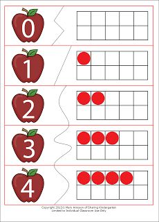 Apples Ten Frame (free; from Freebielicious)
