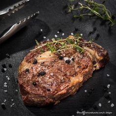 Rib-Eye-Steak vom Grill Steaks, Grilling, Eye, Food, Roast, Meat, Cooking, Valentines Day, Easy Meals