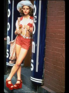 "Jodie Foster was 14 when she played the 'teen' prostitute ""Iris 'Easy' Steensma"" in the 1975 American psychological thriller film ""Taxi Driver"". The film is regularly cited by critics, film directors, and audiences alike as one of the greatest films of all time, being  nominated for four Academy Awards, including Best Picture."