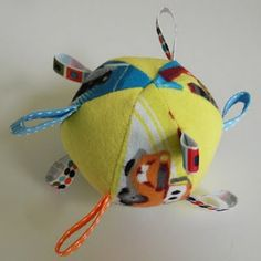 "Sew a ""Goofball"" a Taggie Ball for your dog or cat...great way to put those scraps to use"