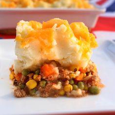 Shepherd's Pie...use ground turkey or beef...ultimate comfort food!
