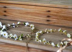 Bridal hair wreath accessory flower crown. ♥Ready to Ship♥ Country Bride Daisy hippie headband silk Wildflowers flower girl halo. Pretty Floral headwreath with silk Daisies, Realistic Wildflowers with babys breath and delicate greenery, florals. Fun baby headband, photo prop, birthday
