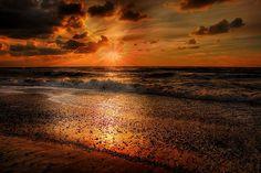 Sun, Dinamarca, Verão, Pôr Do Sol