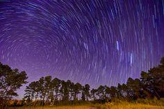 Soaring~ I'd trail the stars through dusky twilight . . .  Deborah Sandidge: Star Trails in my neighborhood