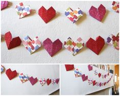 How to make Origami Heart Garland!  #crafty
