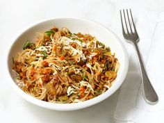 Angel Hair Pasta With Walnut-Carrot Sauce from FoodNetwork.com