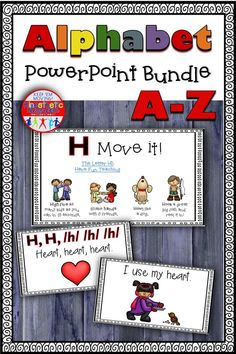 Here's a money-saving bundle of PowerPoint presentations for the letters A-Z that will teach your kids about the letters and get them moving, too! Teaching The Alphabet, Alphabet Activities, Educational Activities, Art Activities, Kinesthetic Learning, Powerpoint Presentations, Love Teacher, Kids Moves, Emergent Readers