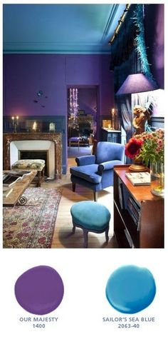 Purple Paint Colors On Pinterest Orange Paint Colors