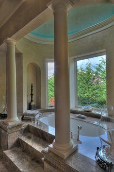 Inside A Beautiful Mansion Dream House Sunken Living