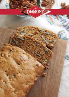 Butter Pecan Bread--A delicious breakfast to start your day, or afternoon snack, this bread recipe will quickly become a baking favorite in your home.