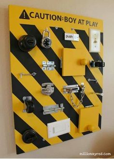 Sensory toys: Barry could easily put this together for Monti.