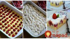 Výborný zákusok bez pečenia: Krémové malinovo-pudingové rezy! Waffles, Breakfast, Food, Morning Coffee, Essen, Waffle, Meals, Yemek, Eten