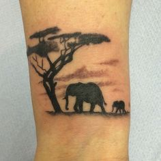 Africa scene tattoo by Travis Allen Www.twistedtattoo.co.uk