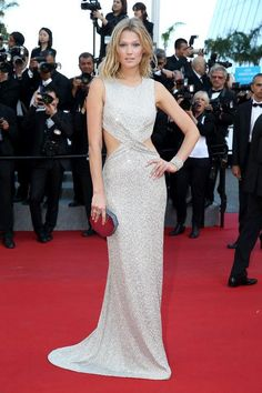 Toni Garrn in Elie Saab at Cannes 2015