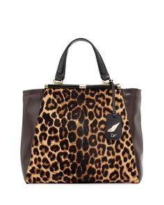 Runway Tote Bag, Leopard/Mahogany - Diane von Furstenberg, $27.92 in cash back from :  http://www.shop.com/tllin