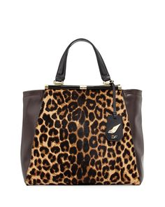 Runway Tote Bag, Leopard/Mahogany - Diane von Furstenberg, $27.92 in cash back from :  http://www.shop.com/tllin