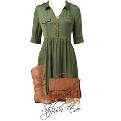 Versatile green dress... flip flops, boots, wedges, belt, cardingan... you name it