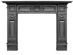 The Carron Hampton Black Cast Iron Fire Surround is available to order from UKAA