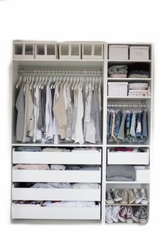 Easy Pieces: Modular Closet Systems, High to Low Ikea Closet System Remodelista. I wish I had so many ConverseIkea Closet System Remodelista. I wish I had so many Converse Modular Closet Systems, Modular Closets, Ikea Closet System, Wardrobe Systems, Wardrobe Solutions, Best Closet Systems, No Closet Solutions, Modular Office, Master Closet
