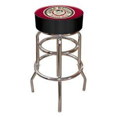 George Killians Irish Red Logo 30 in. Padded Backless Swivel Bar Stool - KL1000