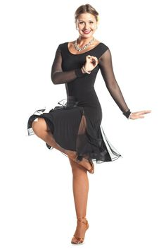 Simply Gorgeous Latin Dance Dress - Dance World 2020 Baile Latino, Latin Ballroom Dresses, Jazz Dance Costumes, Sexy Legs And Heels, Dance Fashion, Argentine Tango, Dance Outfits, Dance Wear, Elegant Dresses