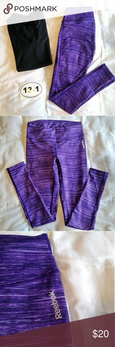 ❄ Reebok Running Tights 👟 Add a pop of color to your work out! These dri fit tights feature beautiful jewel purple tones! Like new condition! Reebok Pants