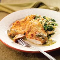 Chicken French with Lemon Caper Sauce