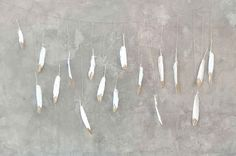 Gold Dipped Feather Garland.