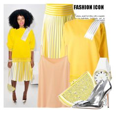 """""""Fashion Icon: Solange"""" by prettyorchid22 ❤ liked on Polyvore featuring Christopher Kane, Uniqlo, Kate Spade and Acne Studios"""