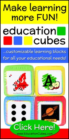 Want to make learning more hands-on, engaging and fun? Try Education Cubes - customizable learning blocks for all your educational needs! Cubes, More Fun, Homeschool, Education, Learning, How To Make, Ninjas, Studying, Study