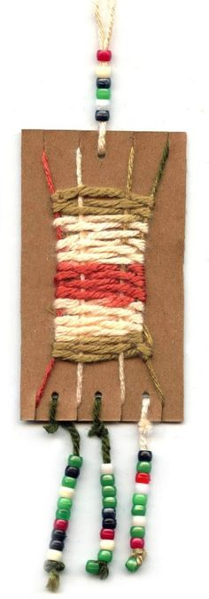 Cardboard Weaving+Necklace