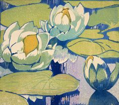 Water Lilies Prints by Mabel Royds | Magnolia Box