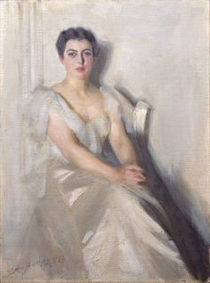 Portrait of Mrs. Grover Cleveland, 1899, Anders Zorn, Swedish, 1860-1920, Oil on canvas, 68 x 51 cm