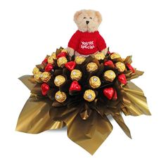 You're Special Ferrero Rocher Chocolate Bouquet is a true favourite of many, it contains 30 Golden Ferrero Rocher chocolates and 15 solid Belgium chocolate hearts presented in a simple yet elegant box. Ferrero Rocher Bouquet, Ferrero Rocher Chocolates, Sydney, Paper Peonies, Candy S, Chocolate Hearts, Chocolate Bouquet, Candy Bouquet, Employee Appreciation