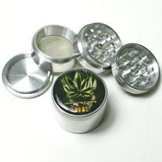 Natural way of saying HI ! ,4 Parts, alumium herb tobacco grinder, by edge cutter. $7.99