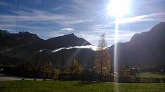 Strahlender Sonnenschein im Herbst