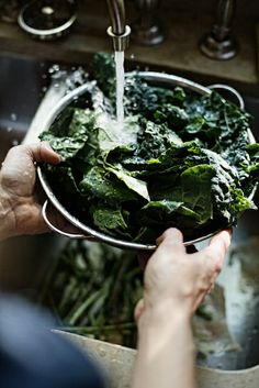Learn how to wash, leafy greens...