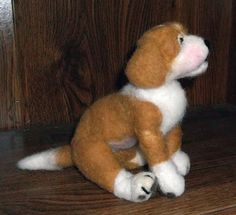 NEEDLE FELTED PUPPY by KathysCraftShop on Etsy