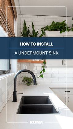 Undermount sinks are as practical as they are sophisticated. With the edge of the sink below the countertop, cleanups are a breeze!