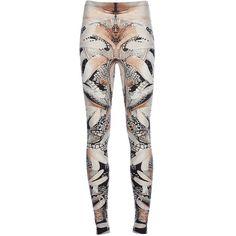 ALEXANDER MCQUEEN print leggings ($590) found on Polyvore