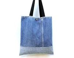 Image result for Sew tote bag from recycled denim and upholstery
