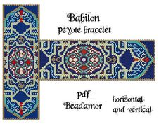 Peyote Pattern for bracelet: Babilon - INSTANT DOWNLOAD pdf vertical and horizontal way