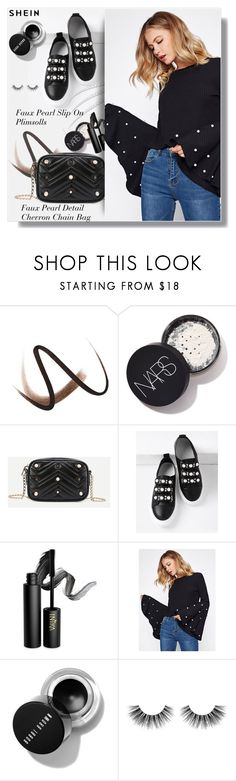 """Shein"" by clumsy-dreamer ❤ liked on Polyvore featuring Burberry, INIKA and Velour Lashes"