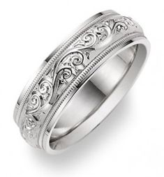 Engraved or etched men wedding rings - The Wedding SpecialistsThe Wedding Specialists